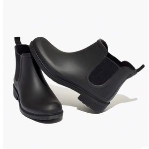 Madewell Chelsea black rain boots ankle boots